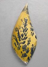 Yellow MOSQUITO JASPER designer cab Silverhawk's designer gemstones.