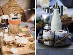 Winter Decoration Ideas and Food for Delicious Picnic on the Snow