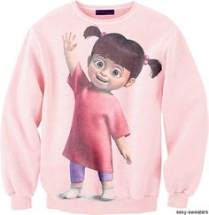 monsters inc. Monsters Inc, Sweater Shirt, Crew Neck Sweatshirt, Disney Sweatshirts, Disney Sweaters, Vanellope, Disney Shirts For Family, Cute Shirts, Pink Shirts