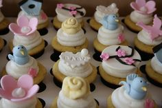 Bird Themed Baby Shower Cupcakes by creative and delicious sweets, via Flickr