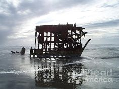 The Peter Iredale At Low Tide Photograph by Chalet Roome-Rigdon - The Peter Iredale At Low Tide Fine Art Prints and Posters for Sale