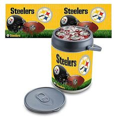 This NFL can cooler features a durable insulated construction that is designed in the shape of an oversized beverage can and sports your team's logo!
