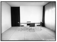 The Dining room in the Director's house, Dessau, 1930,