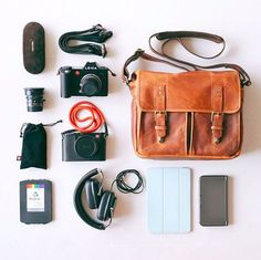 Whether you carry Leica, Canon, or Nikon (or no camera at all), our Prince Street messenger is the perfect size for everyday use. // @thomasvong