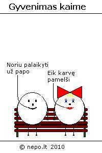 Gyvenimas kaime - Keturkampis apskritimas lietuviški komiksai Mario, Fictional Characters