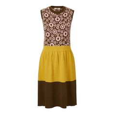 Blossom Flower Jacquard Fitted Dress in Olive