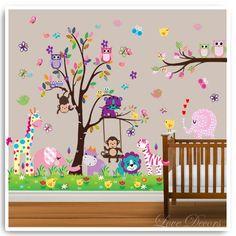 Owl Decor   ... Decor-Nursery-Bedroom-Art-Decoration-Children-Party-Decorative-Mural