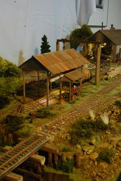 Pudding River Lumber Company - repair shed On30 Modular RR by Kevin Spady