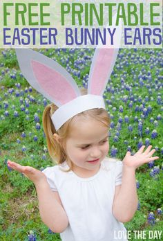 FREE Printable Bunny Ears ...cute craft idea for Easter!