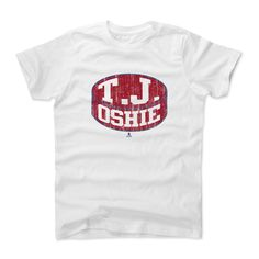 T.J. Oshie Puck R Washington NHLPA Officially Licensed Toddler and Youth T-Shirts 2-14 Years