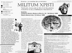 """La Nuova Sardegna. 9 aprile 1999. Inserto Speciale. Alberto Monteverde. """"MILITUM XPISTI. Templari, Cavalieri di Malta e Pellegrini a Guspini e nella Sardegna Medioevale""""."""