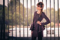 Tweed outfit, tweed skit, perfecto jacket