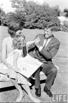 Kennedys - @classiquecom. This picture is so nice, because Kennedy was the father and his daughter was happy it is nice we love this picture.