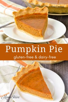 Enjoy this classic recipe made gluten-free and dairy-free! Easy to make gluten-free pumpkin pie perfect for fall baking. Can also be made crustless. Easy to make gluten-free pumpkin pie perfect for fall baking. Can also be made crustless. Dairy Free Pumpkin Pie, Easy Pumpkin Pie, Vegan Pumpkin Pie, Homemade Pumpkin Pie, Gluten Free Pie, Pumpkin Pie Recipes, Pumpkin Dessert, Gluten Free Baking, Gluten Free Desserts