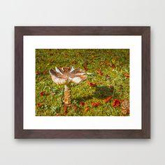 #Autumn Mushroom Framed Art Print