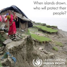 United Nations Human Rights  PHOTO: A family home on the coast of Ghoramara Island, which is submerging into the Bay of Bengal.  Is there a chance that the final #COP21 agreement will not safeguard #humanrights? Yes - and it's why we're in Paris now, working hard to ensure the inclusion of clear language to protect the human rights of all persons, esp those most vulnerable to climate change.