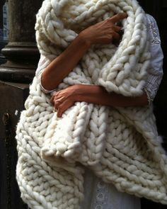 Big loop yarn blanket needs to be on our beds, stat!