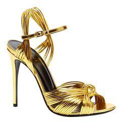 Gucci sandales en cuir métalisé