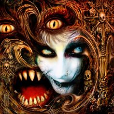 Dani Filth Screenshot by shadowvampire on DeviantArt Writing Inspiration, Character Inspiration, Dani Filth, Cradle Of Filth, Face Art, Black Metal, Dark Side, Weird, Halloween Face Makeup