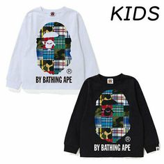 A BATHING APE COLLEGE HOOP L//S TEE 4colors From Japan New ONLINE EXCLUSIVE