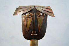 Horváth Pál László CHRISTMAS SALE - Iron, brass and copper sculpture -  'Mother-in-law'