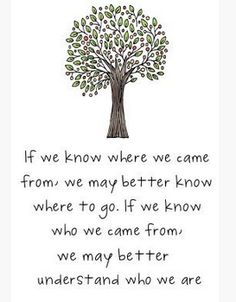 If we know where we came from... | Repinned by Melissa K. Nicholson, LMSW www.mkntherapy.com