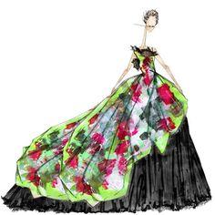 « #TBT Painterly Dolce and Gabbana Spring 2008. @stefanogabbana #ThrowBackThursday #JLarkowskyIllustration »