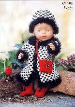 View album on Yandex. Knitting Dolls Clothes, Knitted Dolls, Doll Clothes, Reborn Dolls, Baby Dolls, Doll Patterns, Knitting Patterns, Baby Born, Crochet Hats