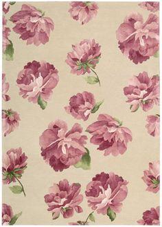 Nourison Modern Elegance Rosa Floral Rug (LH09)  Item number: LH09-ROS