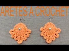 COMO TEJER ARETES A CROCHET PASO A PASO - YouTube Crochet Earrings, Youtube, Summer, How To Knit, Stud Earrings, Tejidos, Summer Time, Youtubers, Youtube Movies