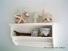 Beach Theme Home Decor for the Bathroom ~ * THE COUNTRY CHIC COTTAGE (DIY, Home Decor, Crafts, Farmhouse)