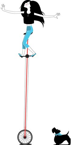 Tall Unicycle Poster via Jenny Lee