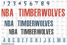 NBA Timberwolves font, aka Minnesota Timberwolves font is a fancy, old-school font designed by Eriq P. NBA Timberwolves font is free for both personel and commercial usages. Old School Fonts, Minnesota Timberwolves, Golden State, Warriors, Nba, Design, Design Comics