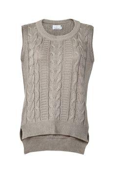 3c2b6578fdd Colete fechado de tricô na cor cinza da marca Coleteria ♡ - Coletes  femininos e infantis
