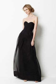 Sweetheart neck with empire waist floor-length chiffon gown