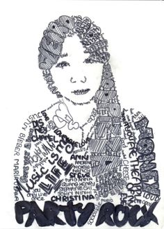 Calligram Portrait Y9 (Ms Holden)