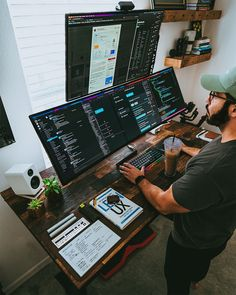 Computer Gaming Room, Computer Desk Setup, Gaming Room Setup, Pc Setup, Home Studio Setup, Home Office Setup, Studio Room, Home Office Design, Casa Bunker