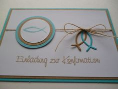 Invitation cards - invitation to the confirmation communion turquoise - a design . - New Ideas - Invitation cards – invitation to the confirmation communion turquoise – a design … – New - Invitation Text, Diy Invitations, Invitation Design, Invitation Ideas, Ideas Scrapbook, Scrapbook Cards, Confirmation Cards, Turquoise, Stamping Up