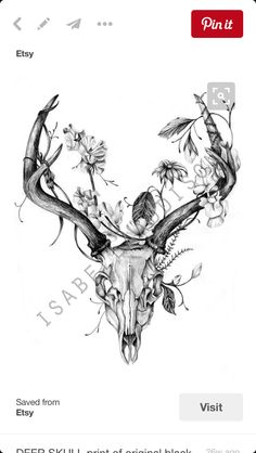 Deer Head Tattoo
