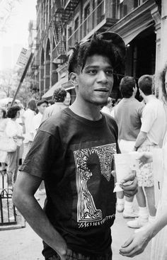 You are cool when you can wear yourself. Basquiat. Photo by Ricky Powell