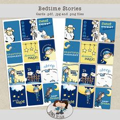 SoMa Design: Bedtime Stories - Cards Bedtime Stories, Beautiful Moments, Sweet Dreams, Digital Scrapbooking, In This Moment, Comics, Cards, Kit, Design