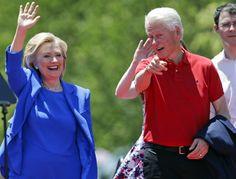 Bill and Hillary Clinton earlier this summer (AP Photo/Frank Franklin II)