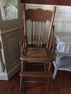 Antique high chair before
