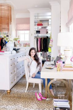 Pink Peonies with Rach Parcell  Office and Closet Space Reveal <3 <3 <3