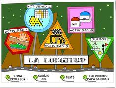 """""""La longitud"""" es una completa aplicación, publicada por el Instituto de Tecnologías de la Educación de España, en la que se aborda con múltiples actividades interactivas el aprendizaje de la medida de longitudes en Educación Primaria."""