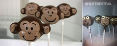 This user didn't quite follow directions  when making  these monkey cake pops. #pinterestfail