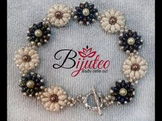 Flower bracelet with superduo beads (twins) - Seed Bead Tutorials