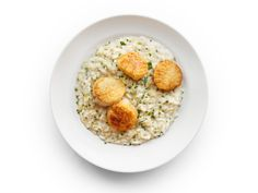 Lemon-Herb Risotto with Scallops recipe from Food Network Kitchen via Food Network- swap scallops for shrimp