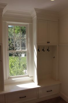 Bedroom bench and storage idea.