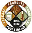 Shelf-Life  Estimates (20-30+ years) of life-sustaining basics for long term food storage